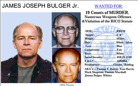 JAMES WHITEY BULGER ARRESTED